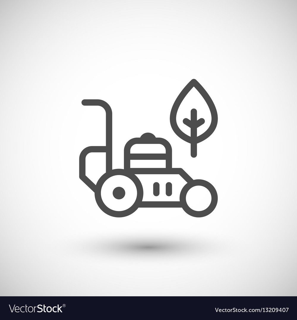 Lawn mower line icon