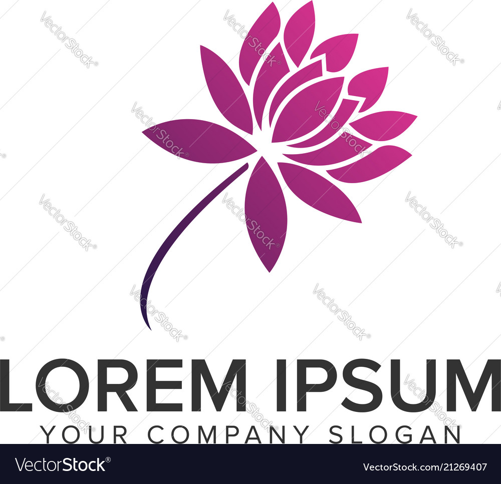 Lilly flower logo design concept template fully