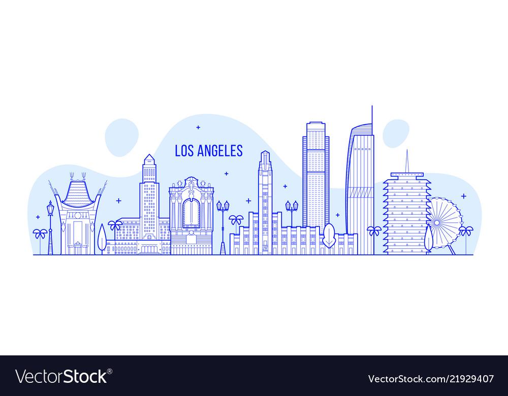 Los angeles skyline usa city buildings