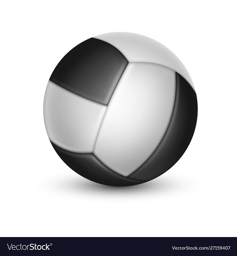 Volleyball ball with shadow isolated on white