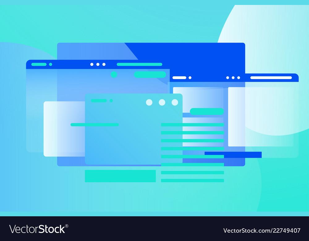 Web pages design composition gradient network