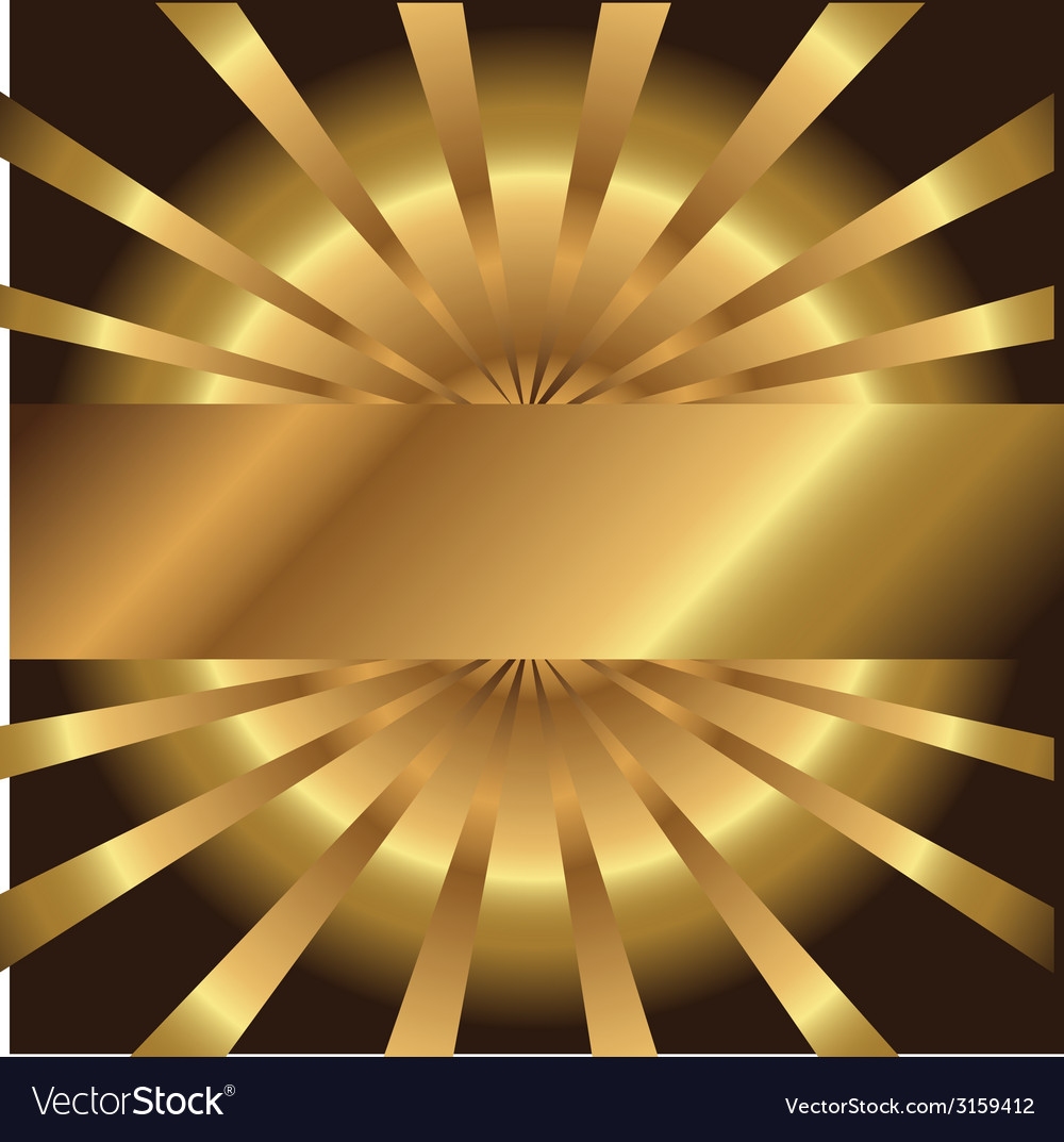 Abstract Golden Background With Place For Your Tex