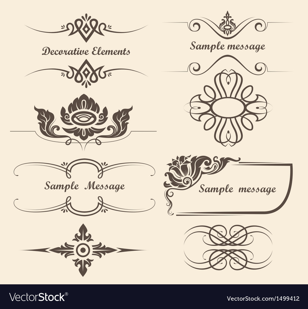 Design elements and page decoration
