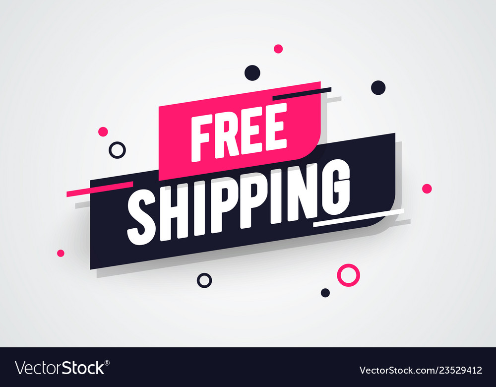 Free shipping shop now advertisement label