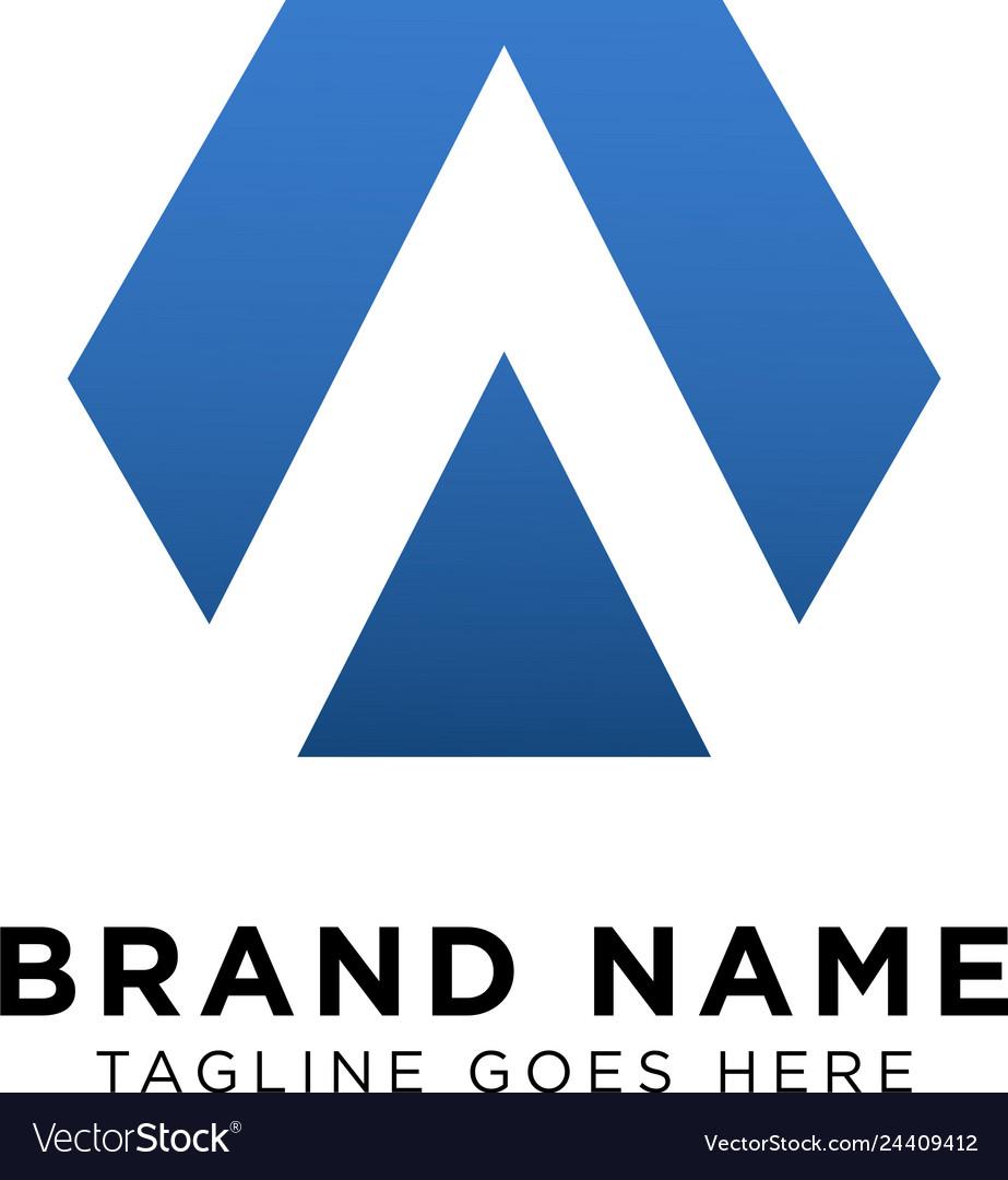 Initial a logo design inspiration