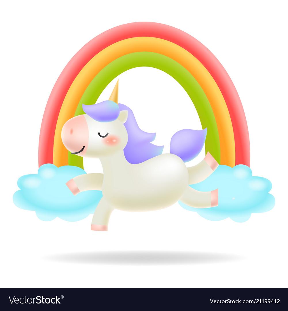 Unicorn with rainbow little pony