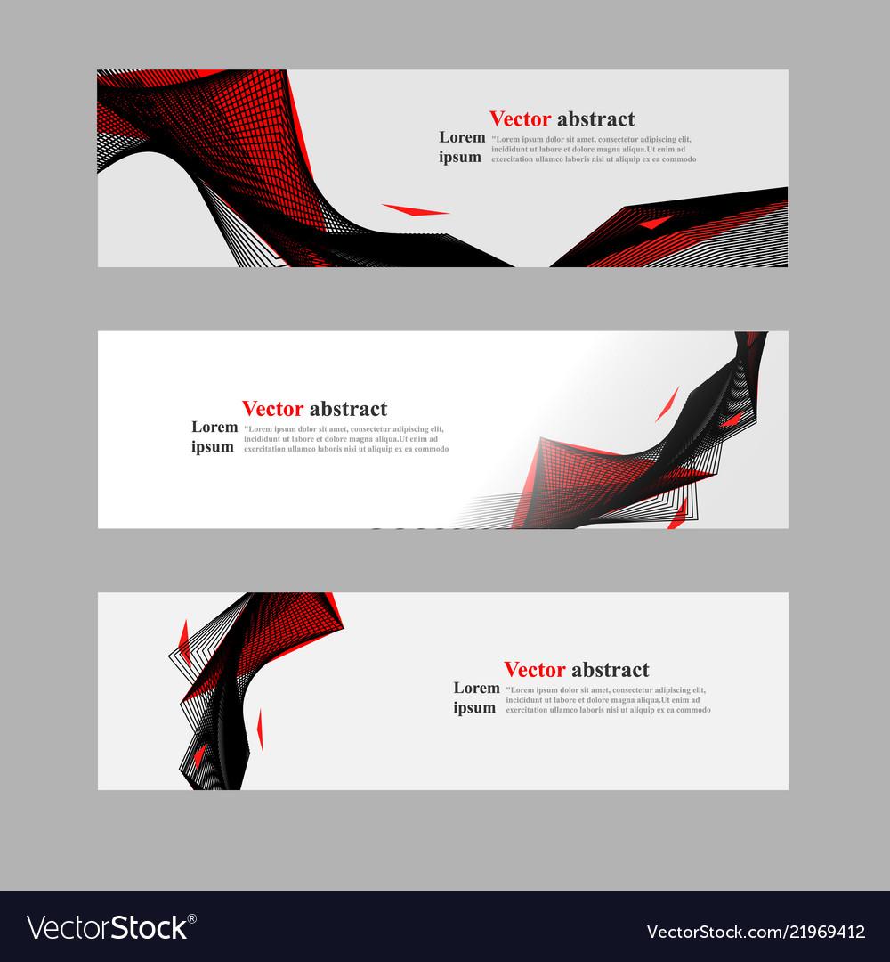 Website header or banner web set abstract