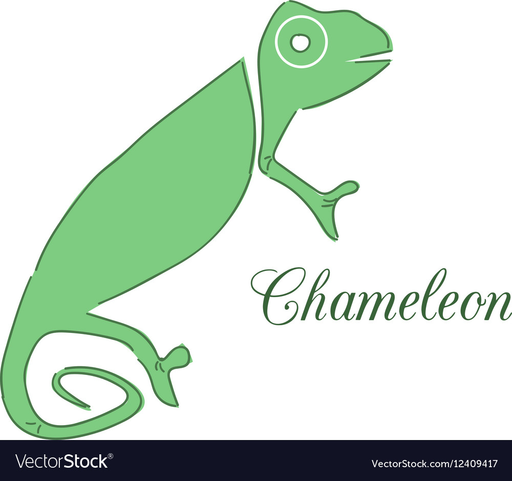 Chameleon Logo Identity Design Template Royalty Free Vector