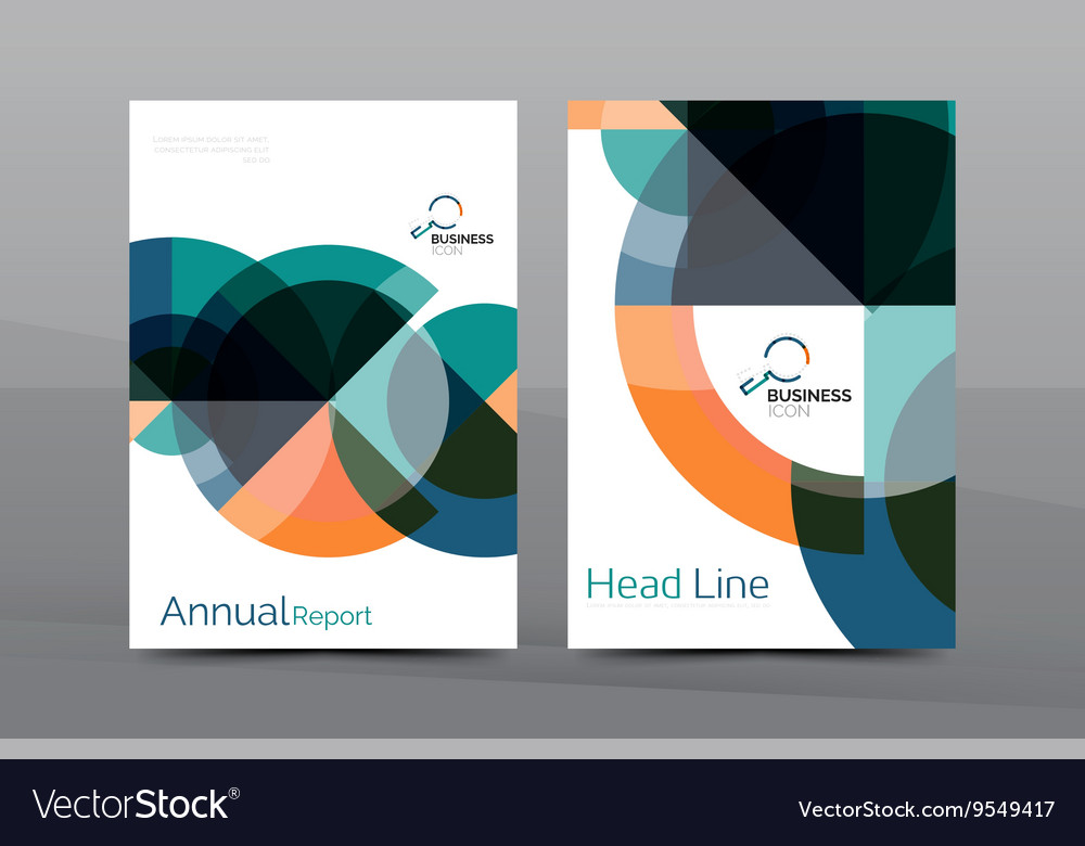 clean geometric design annual report cover vector image