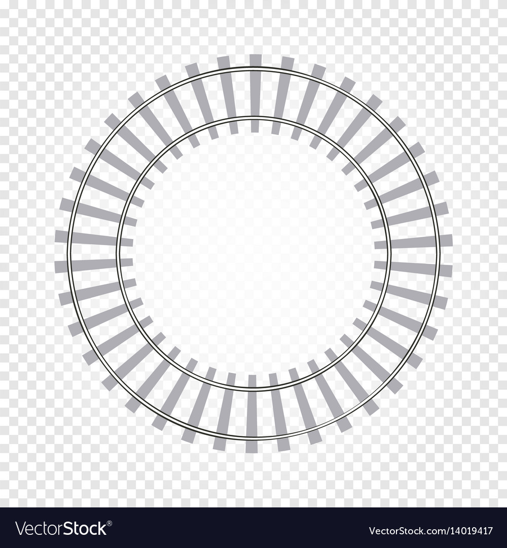 Isolated abstract grey color round shape railway