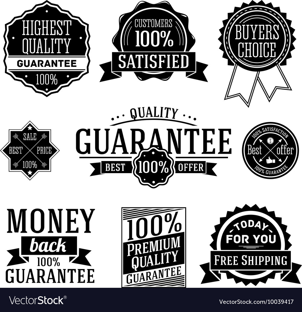 Quality Guarantee labels set