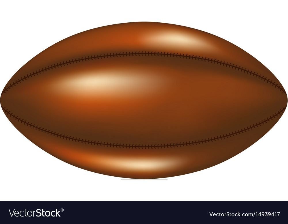 Retro rugby ball in leather design