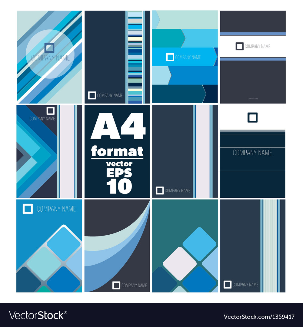 Set of folder A4 form