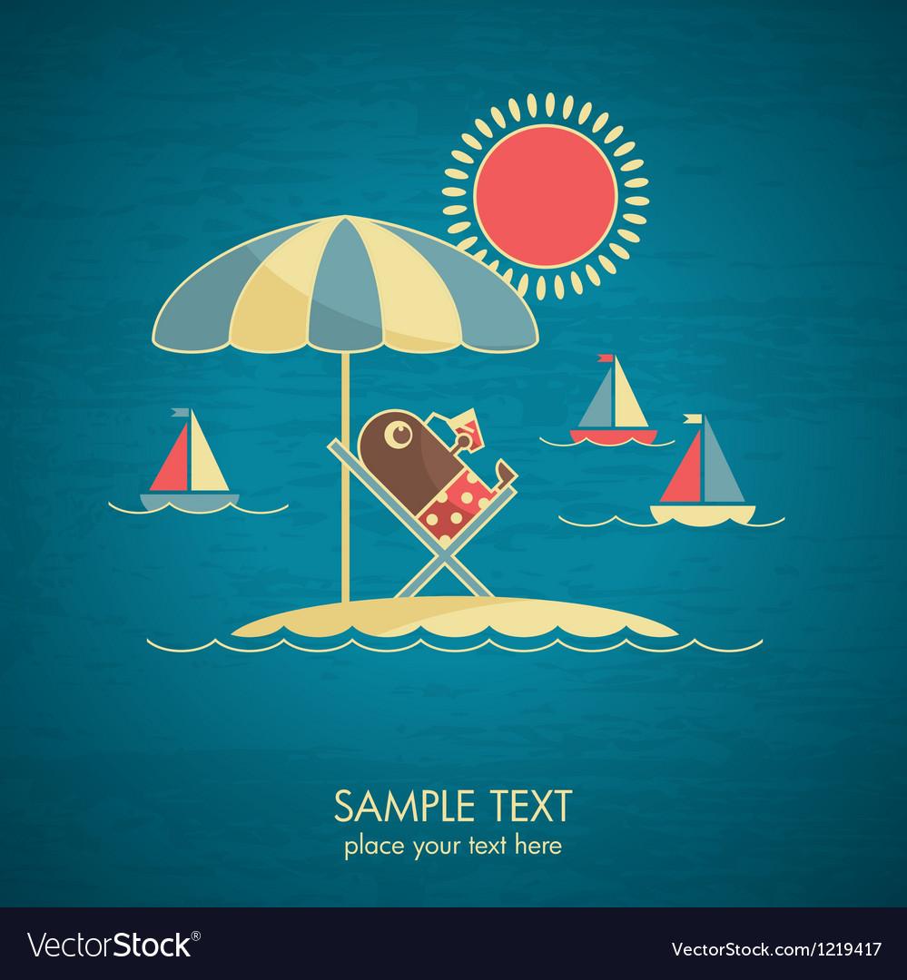 Vacations card vector image