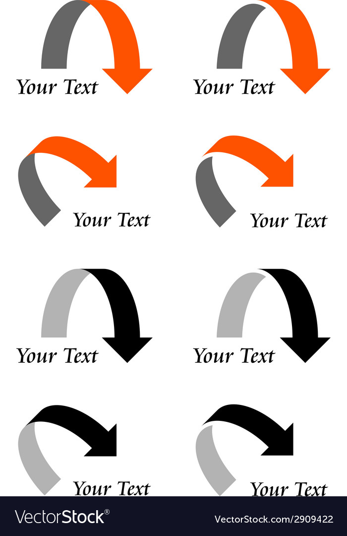 Arrows with text