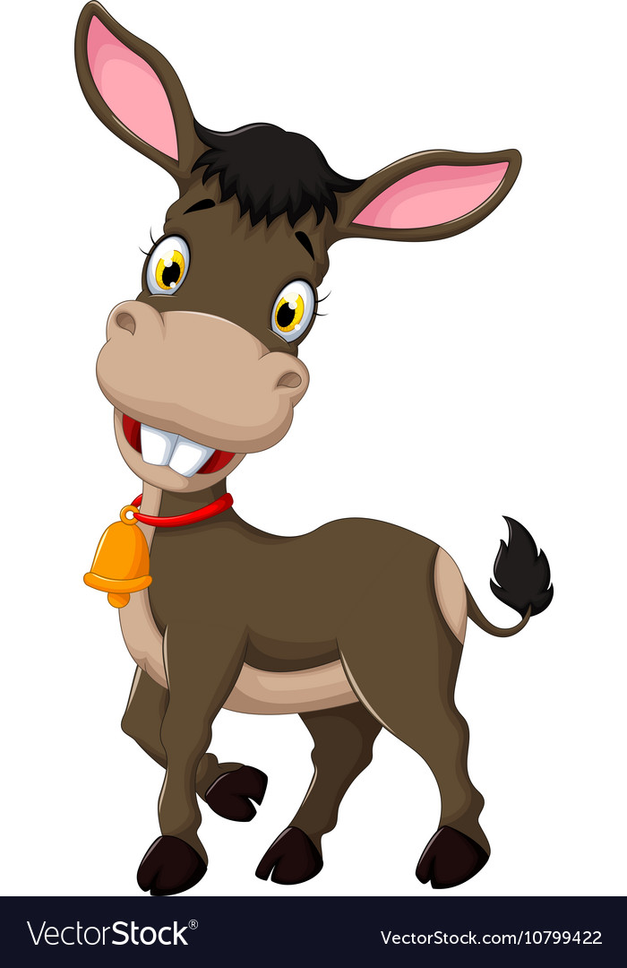 Funny donkey cartoon posing