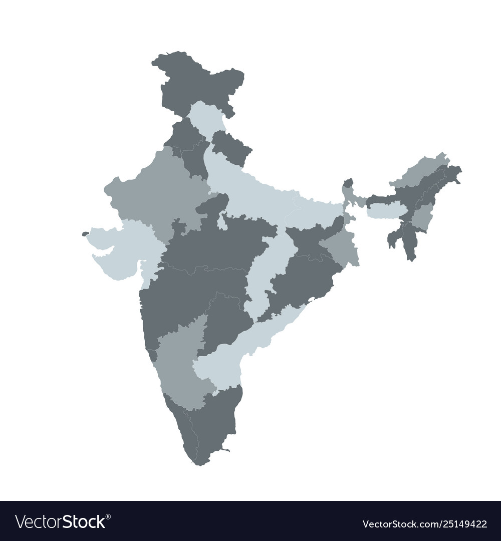 India map for infographic editable template
