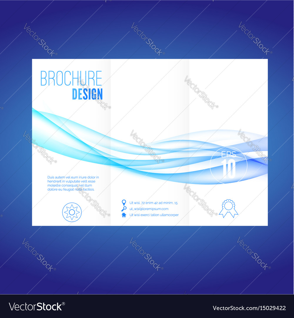 Modern futuristic abstract blue wave brochure