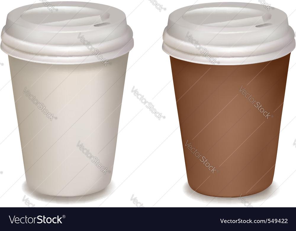 Plastic Coffee Cups Vector Image