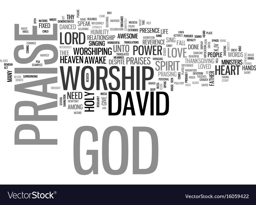 Power worship text background word cloud