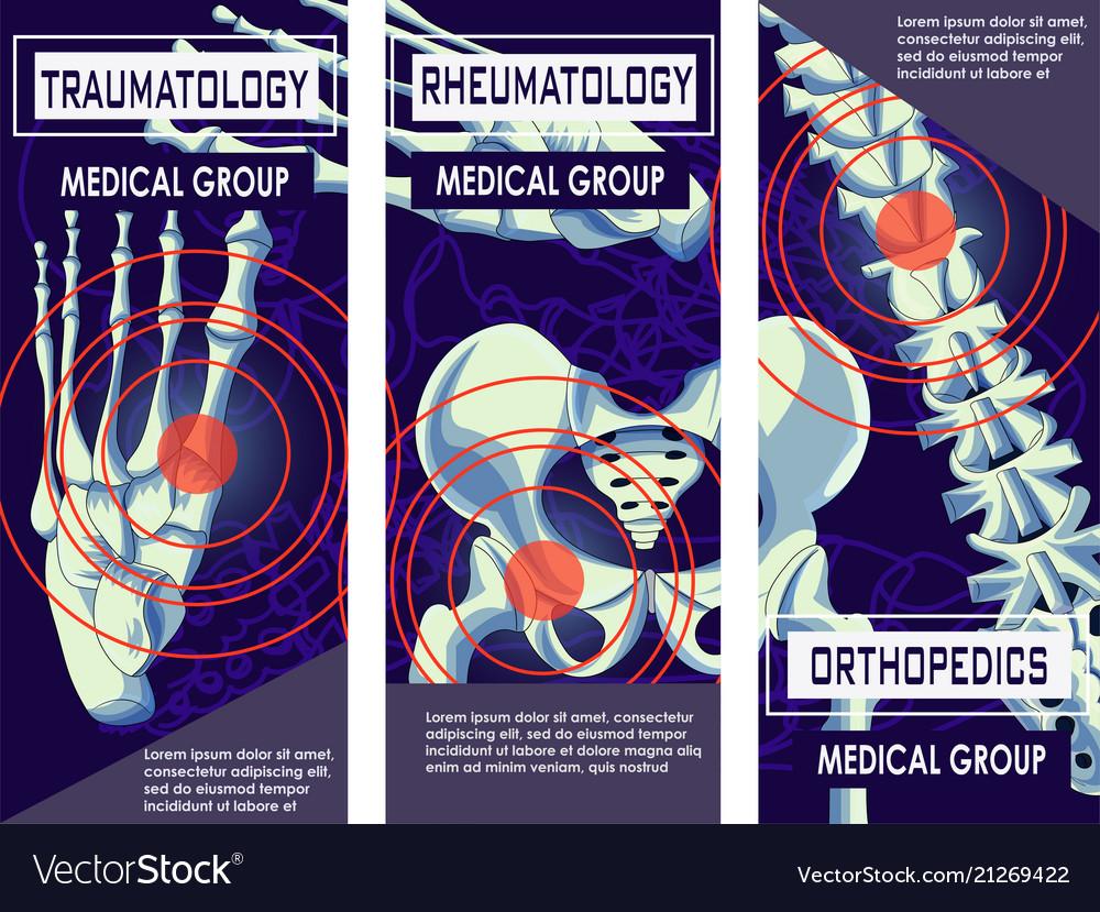 Rheumatology orthopedics and traumatology banner