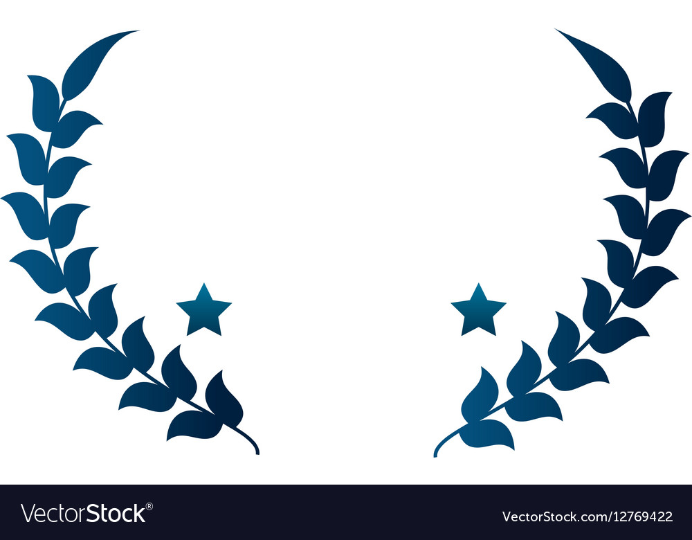 Wreath crown emblem icon vector image
