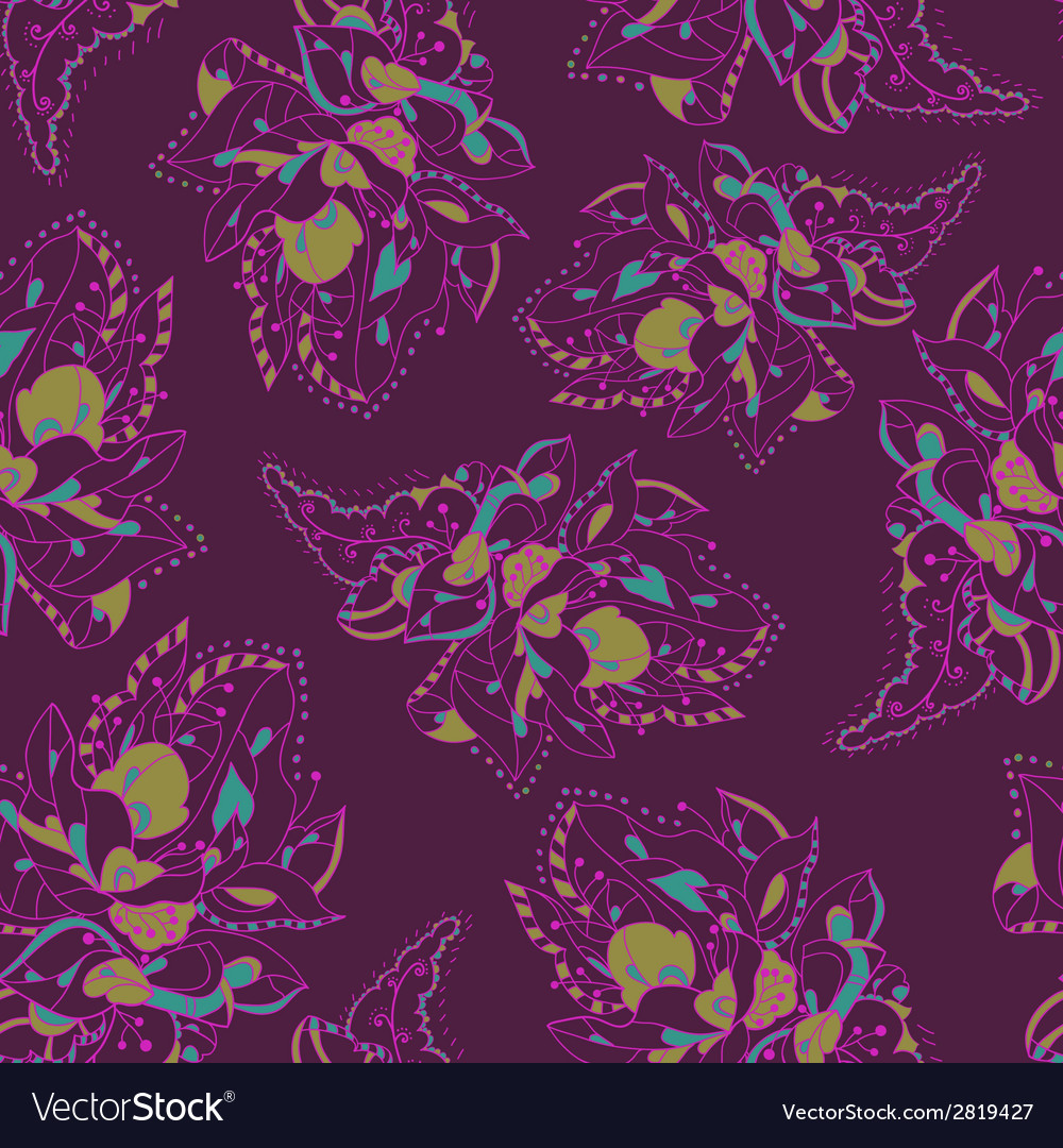 Elegant pattern with abstract Flowers Lacy pattern