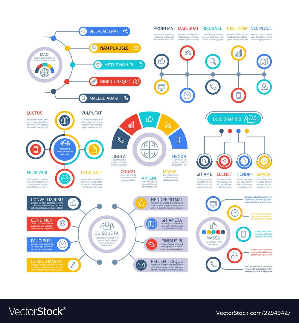 Infographic elements financial presentation