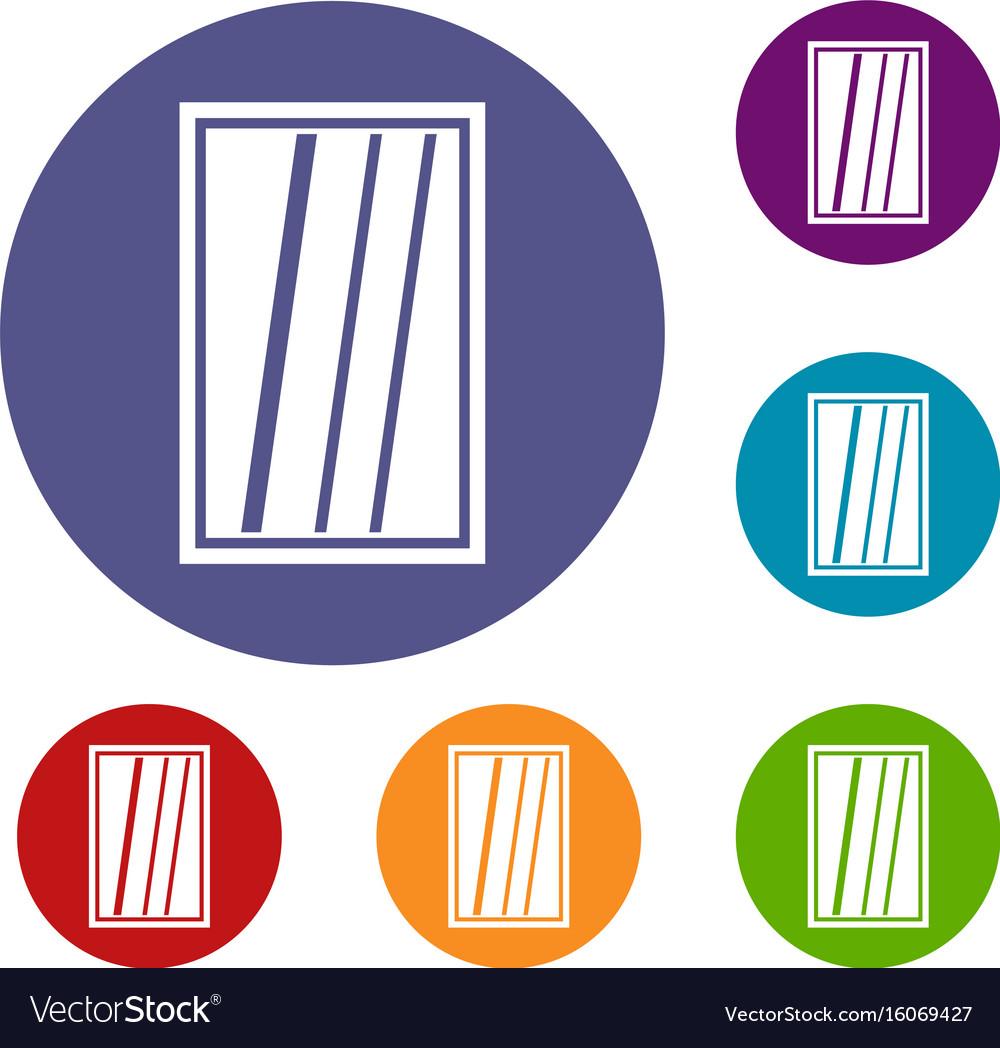 White rectangle window icons set