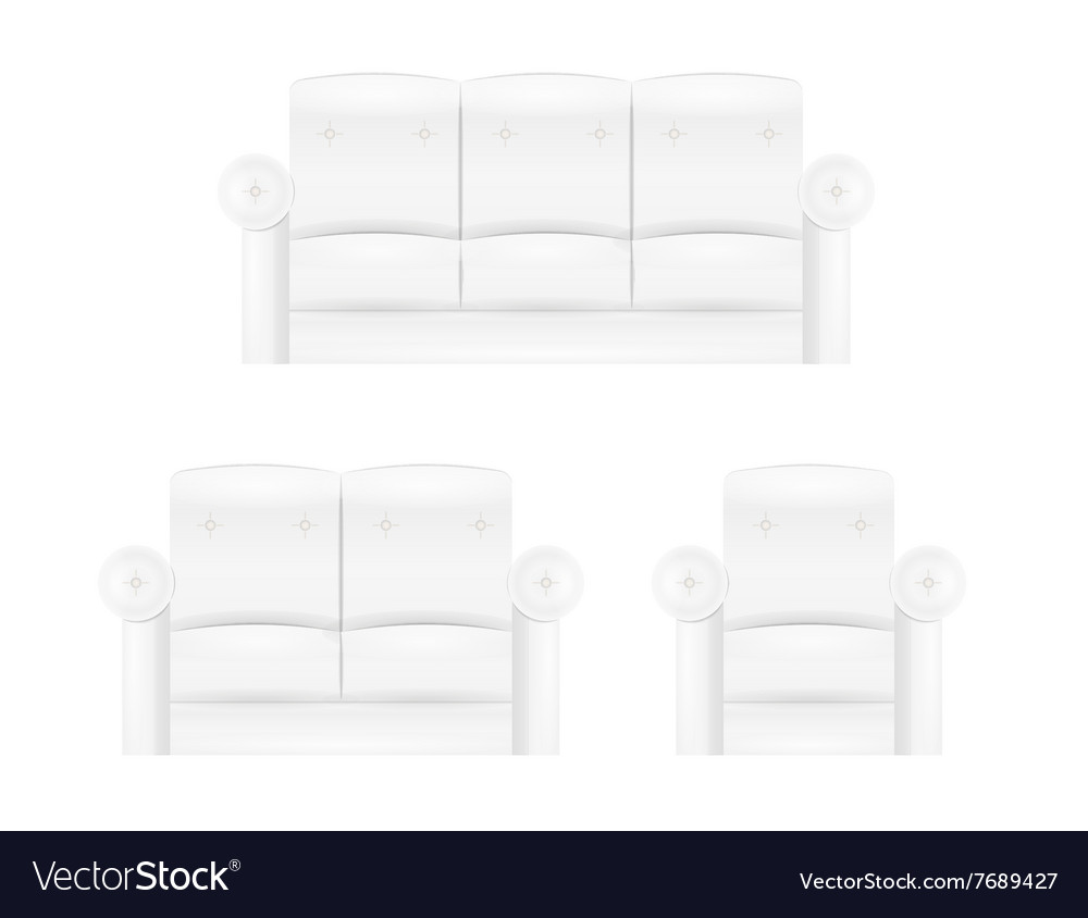 White Sofa Furniture Royalty Free