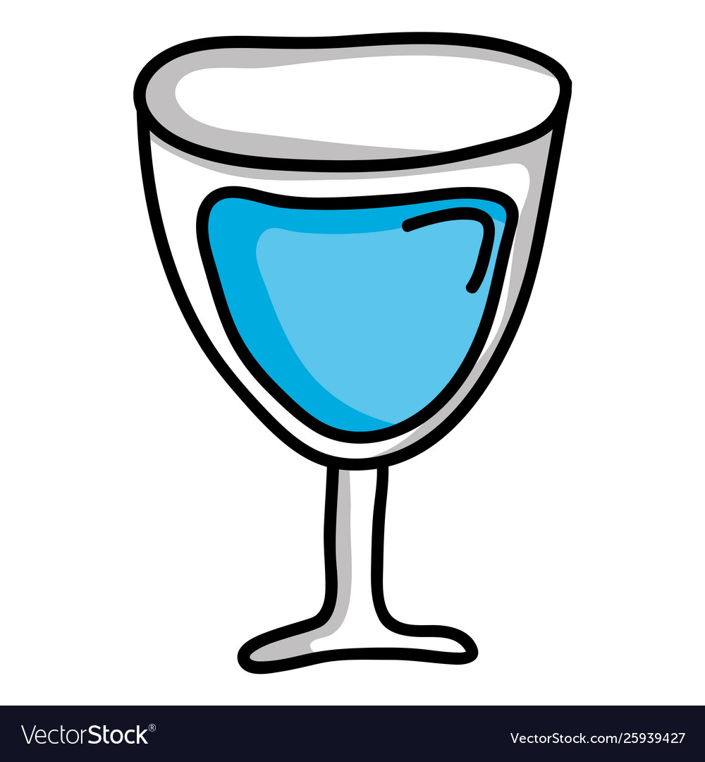 Wine cup glass isolated icon