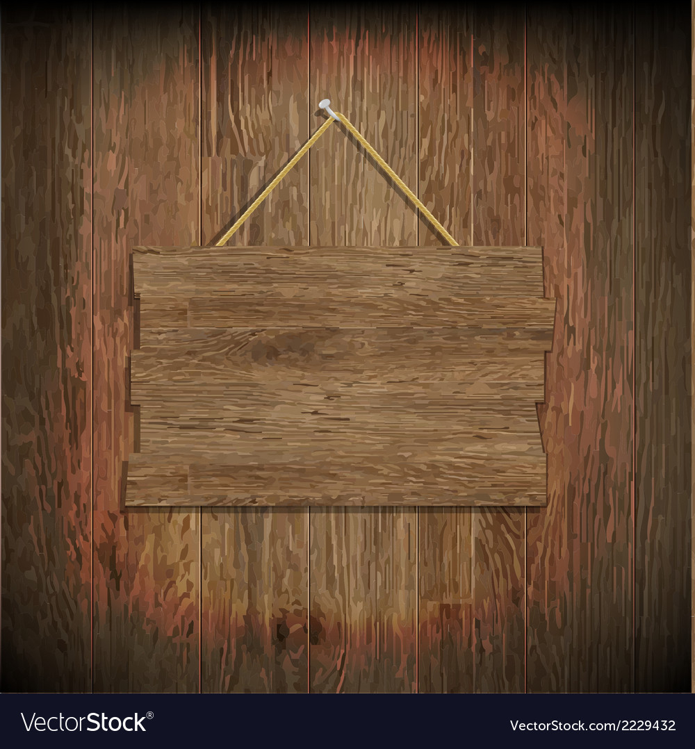 Dark Wood Texture With Wood Board Vector Image