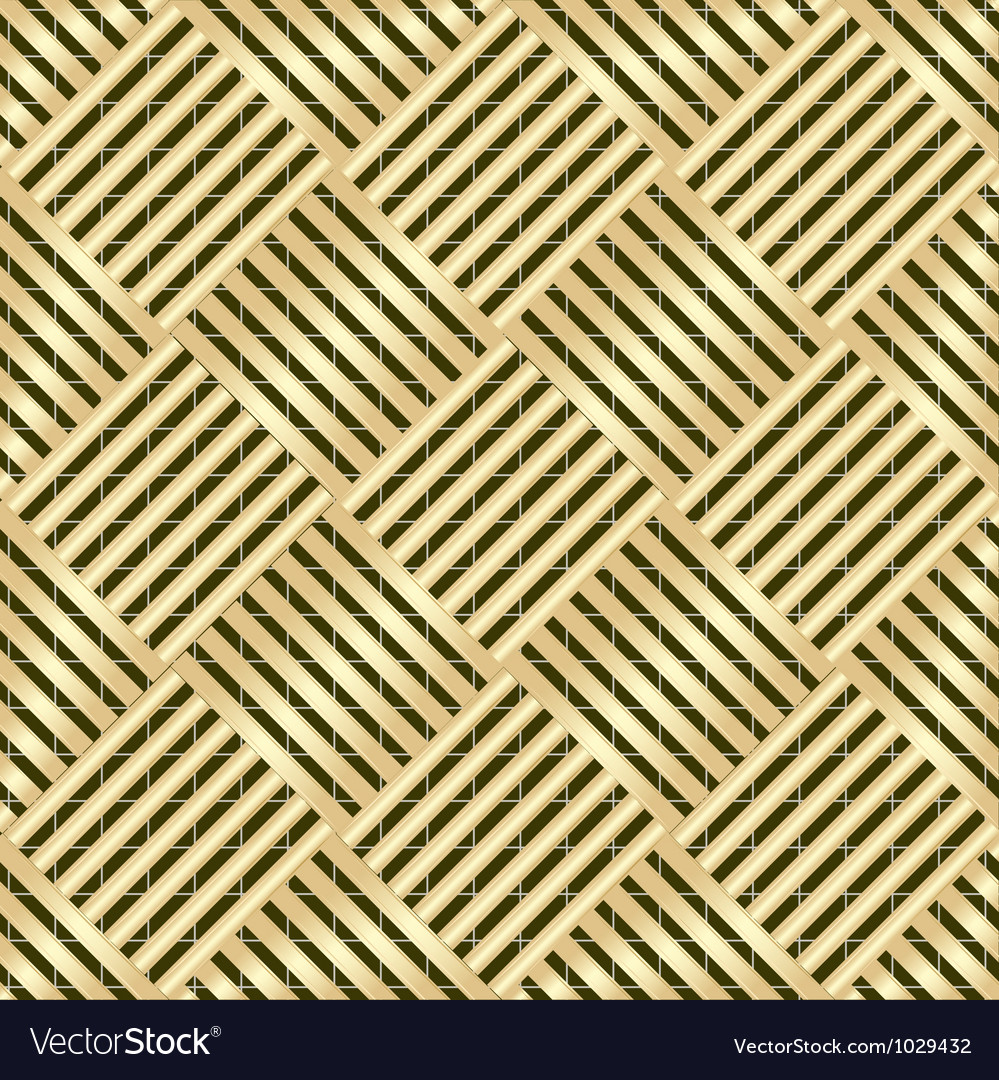Gold wattled structure vector image