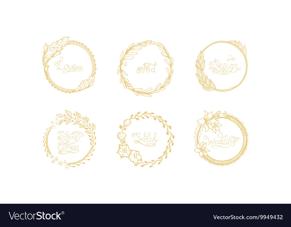 Wreath hand draw vector image