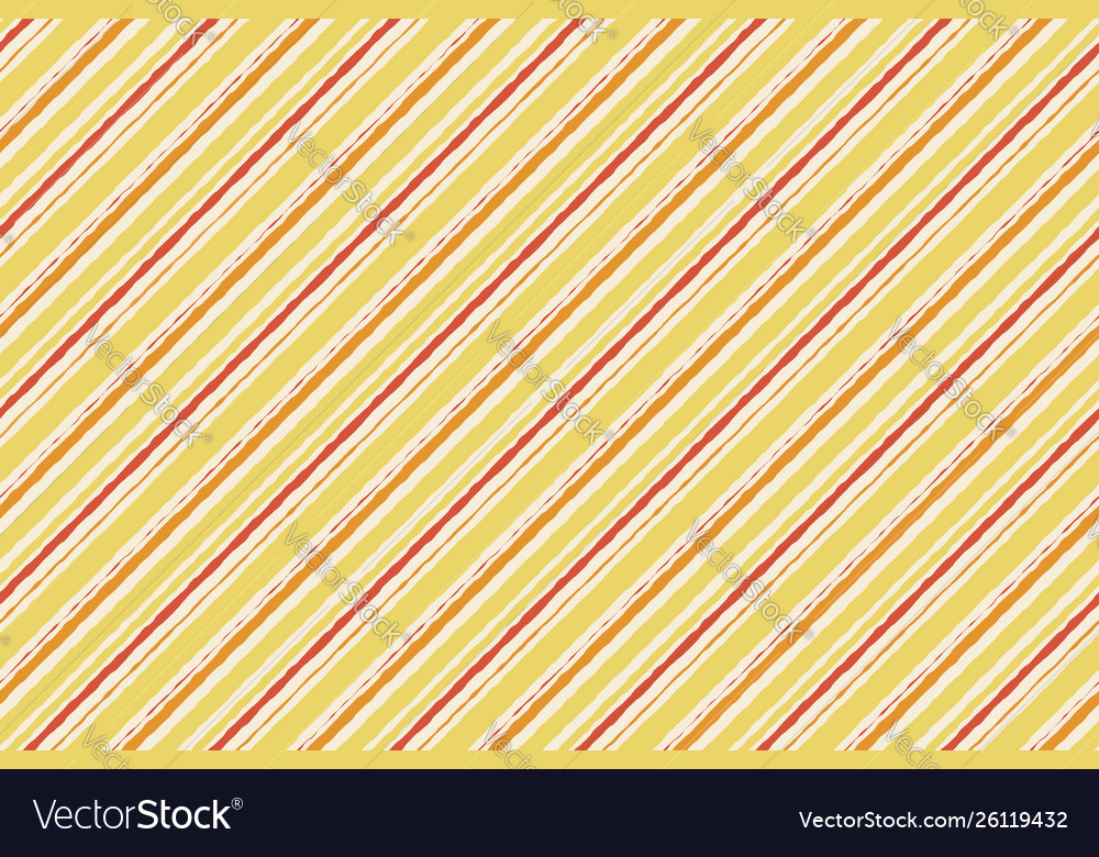 Yellow orange watercolor grunge striped seamless