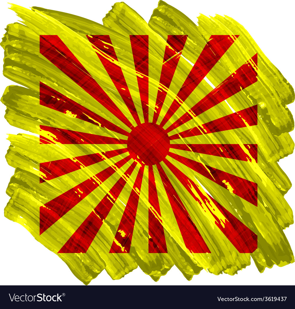 Abstract artistic painted sun on yellow background