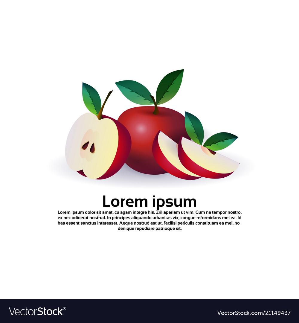 Apple fruit on white background healthy lifestyle