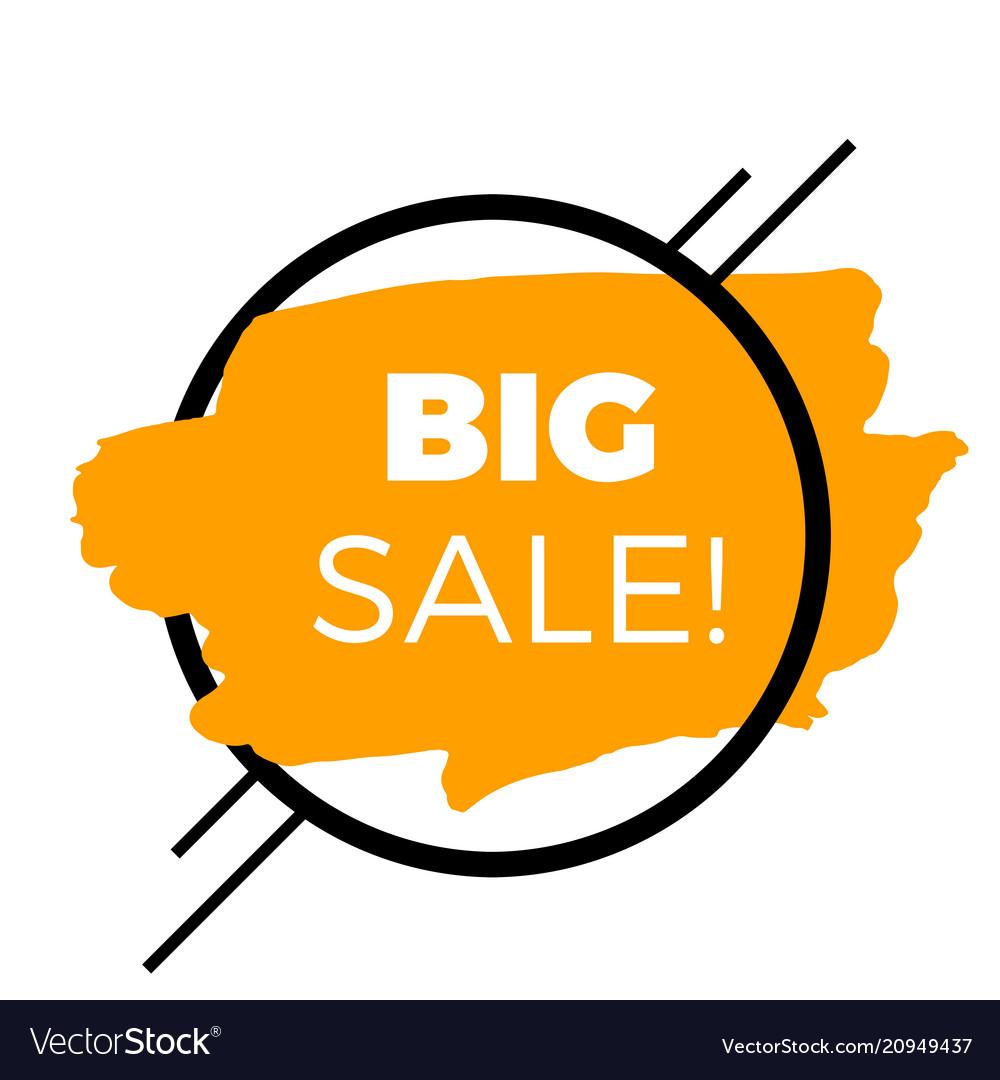 Big sale circle frame orange background sale banne