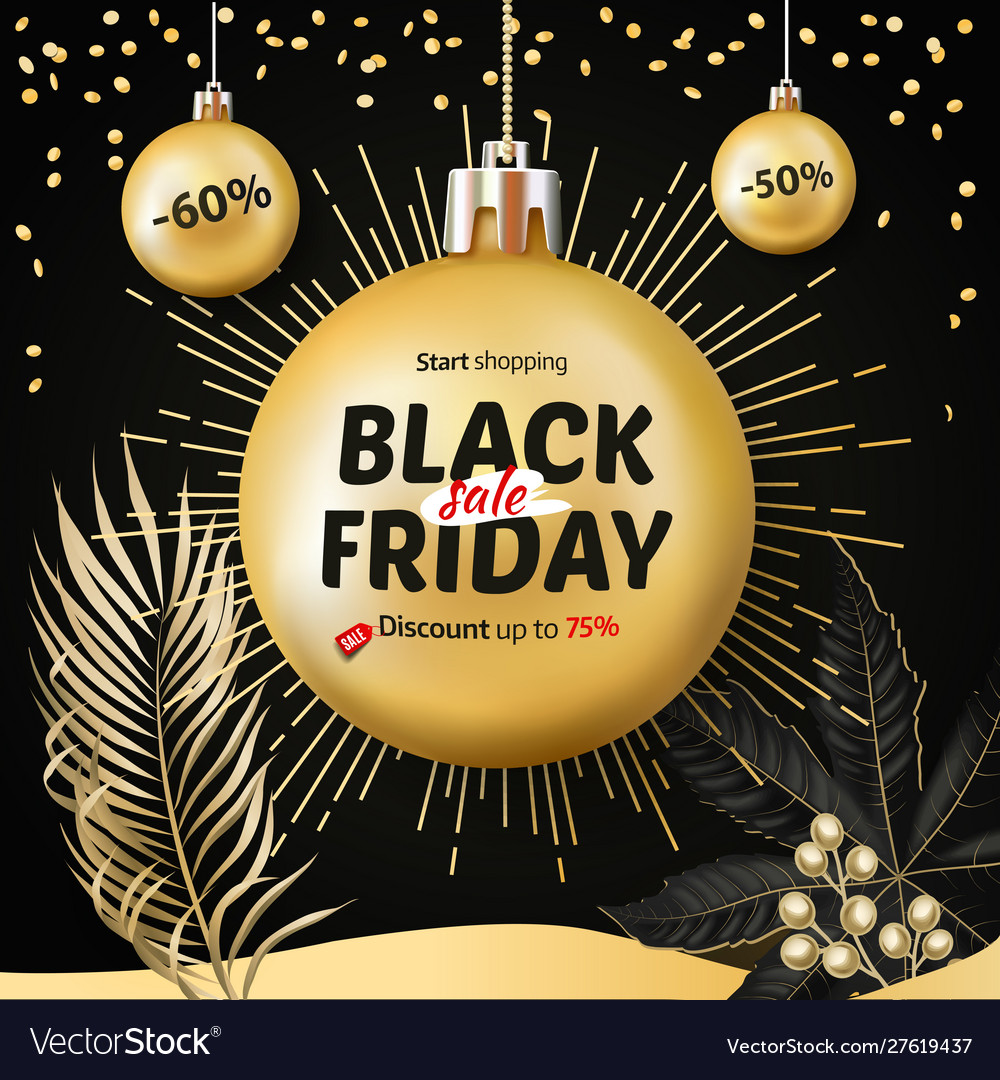 Black friday sale christmas and new year shopping