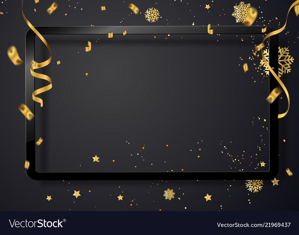 Celebration of christmas 2018 background with