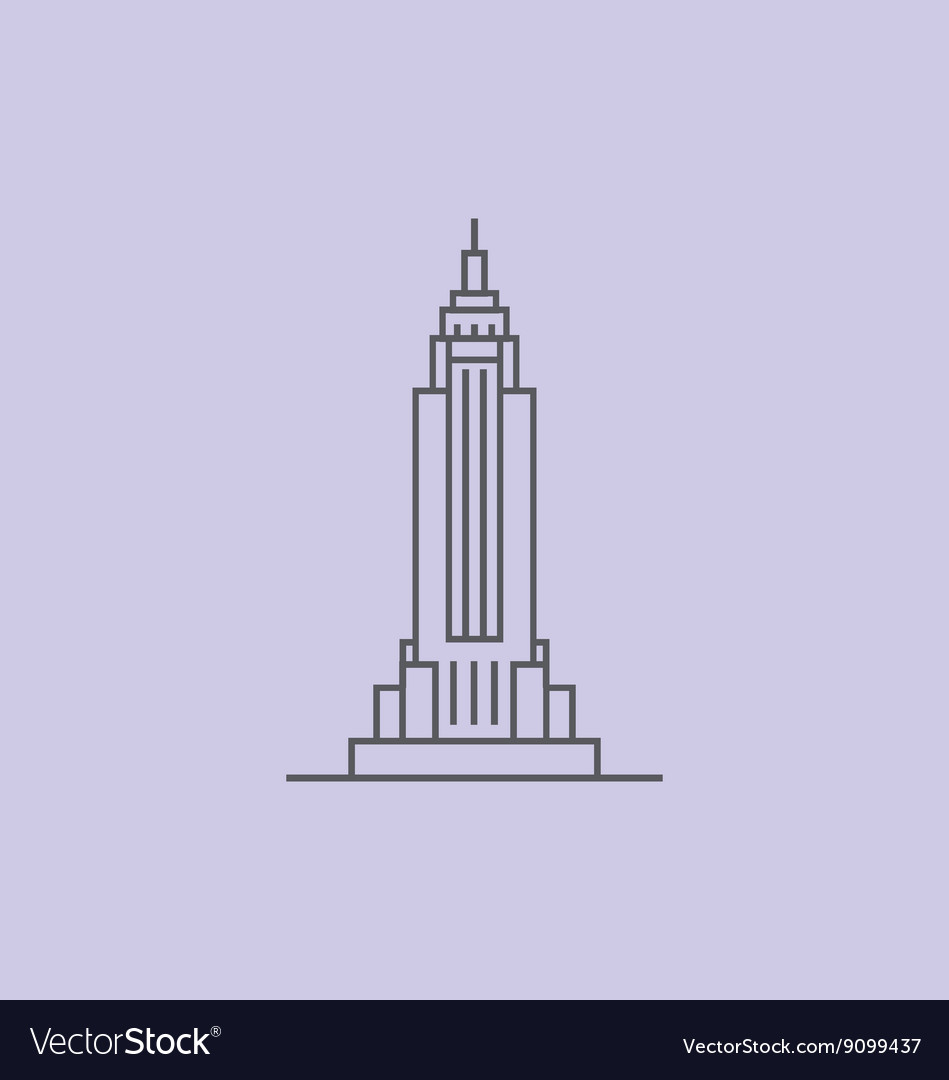 empire state building royalty free vector image