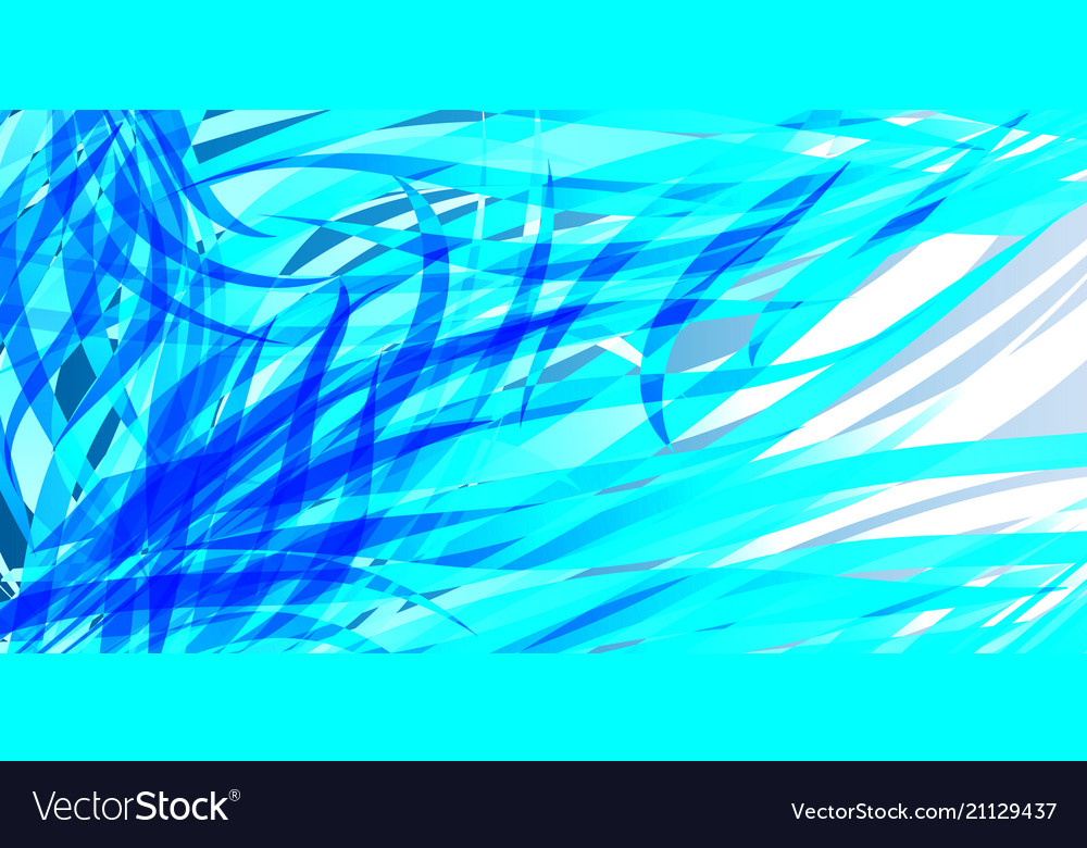 Glowing ocean background from blue sea lines and
