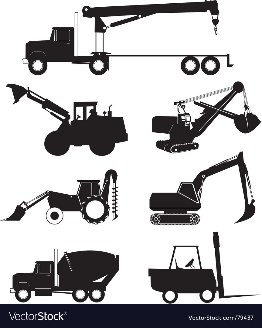 Industry vehicle silhouette vector image