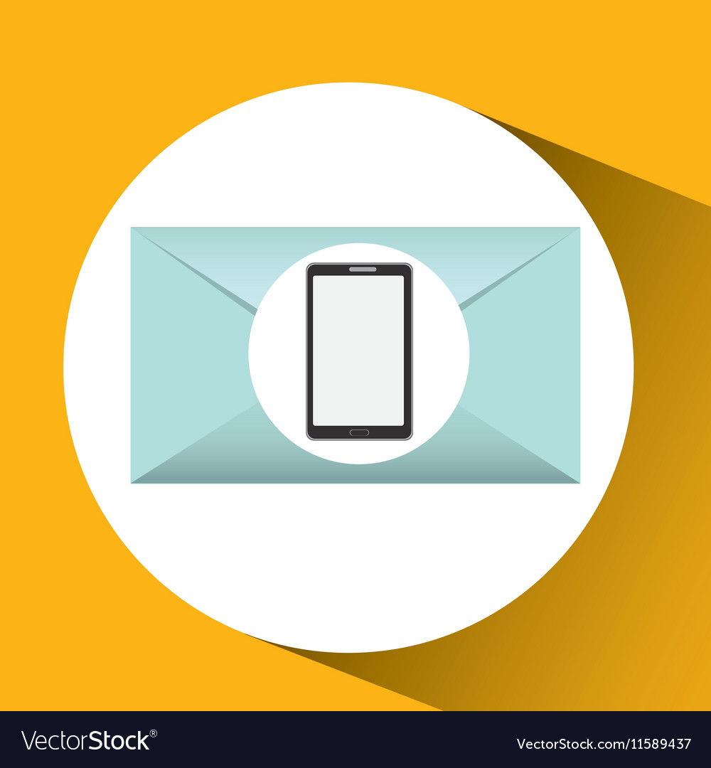 Mobile cellphone email envelope icon
