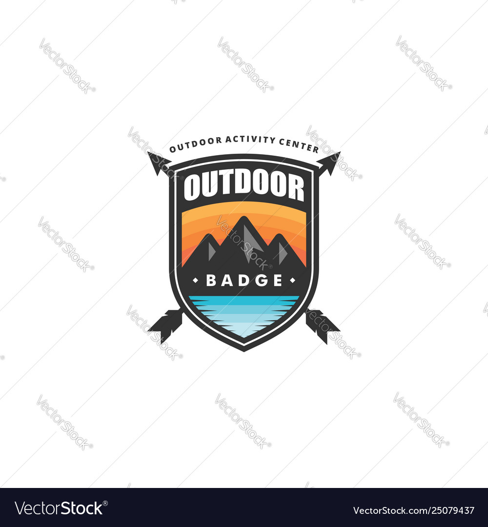 Outdoor badge concept template