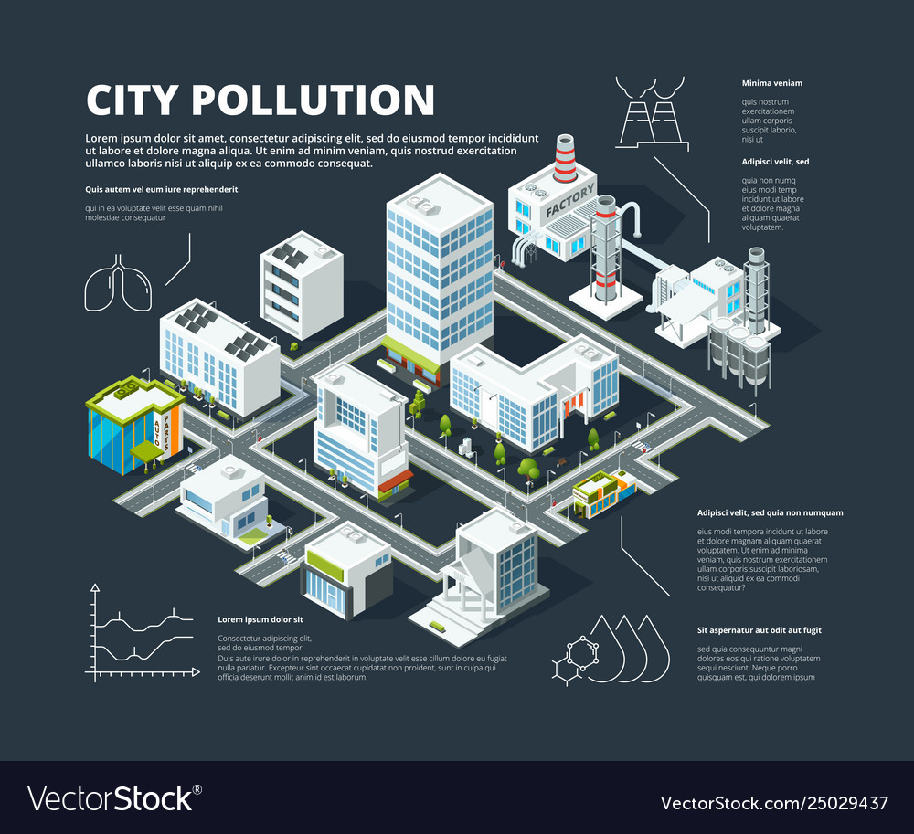 Urban infographic business concept people