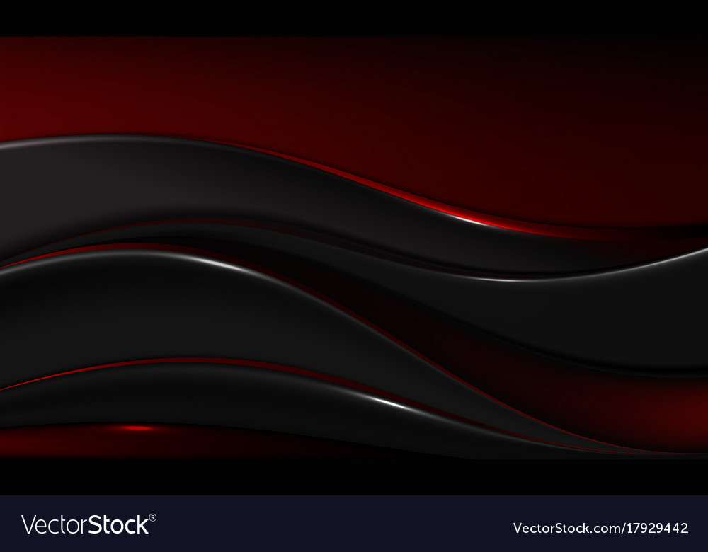 Abstract-red-and-black-wavy-background-design vector image