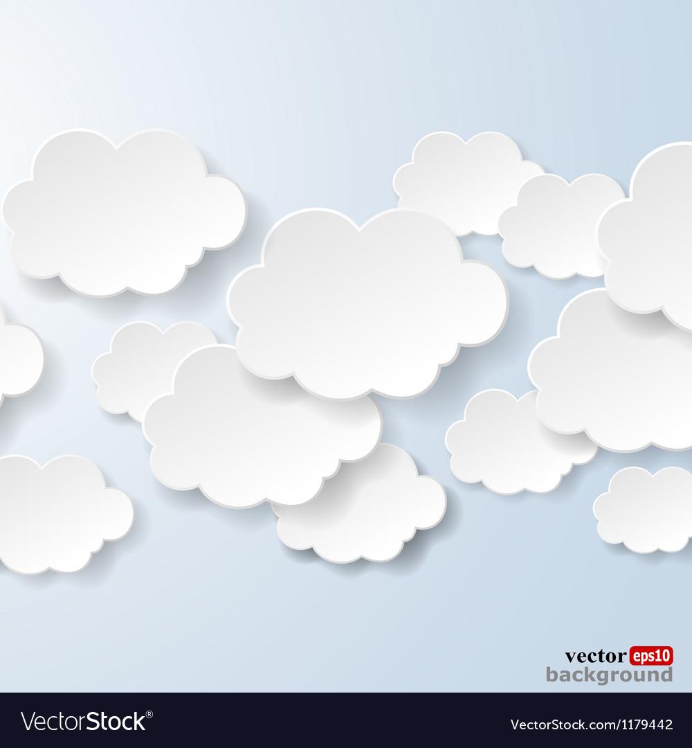 Abstract speech bubbles vector image