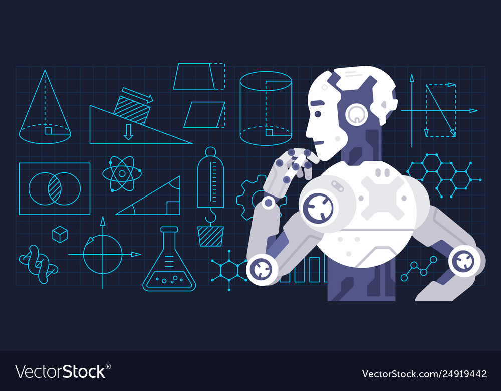 Colorful Machine Learning Royalty Free Vector Image