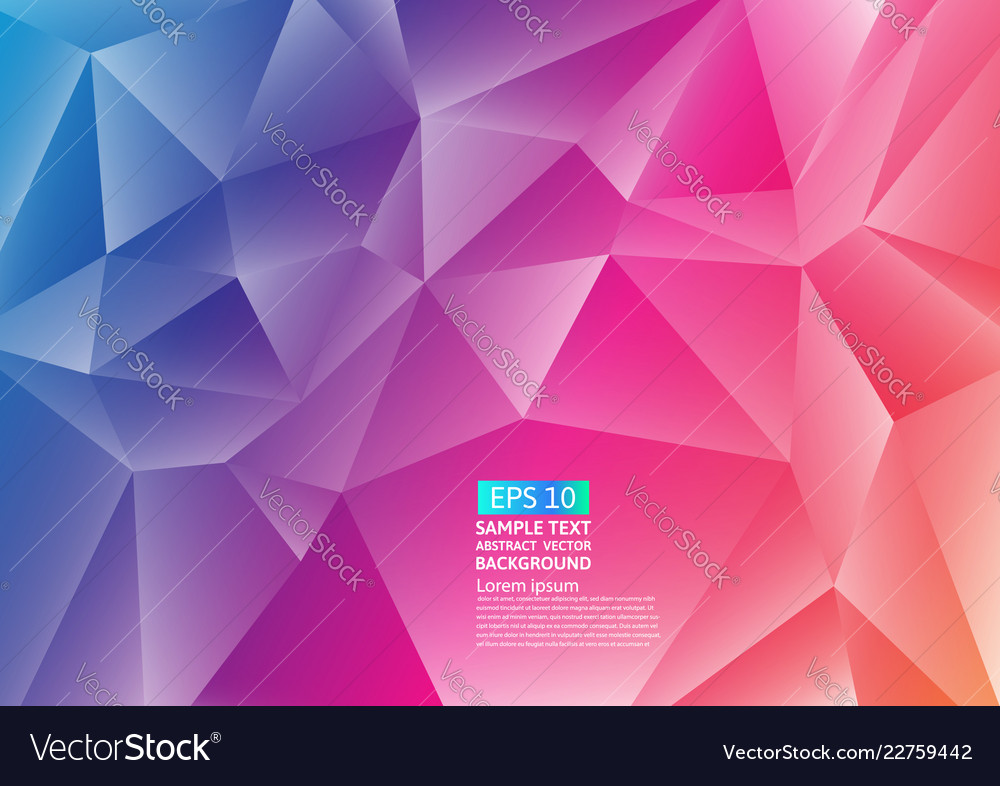 Colorful polygon abstract background design fluid